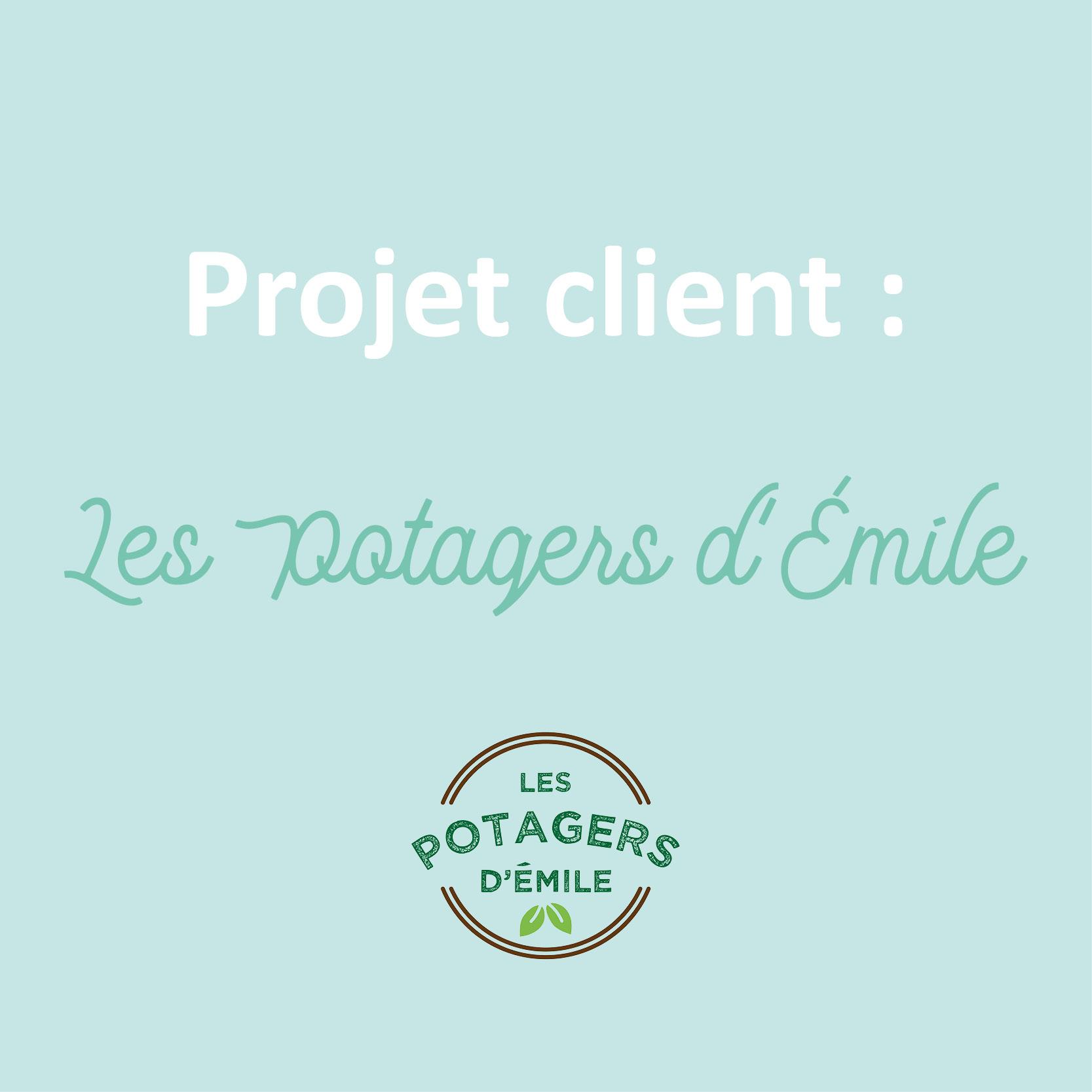 projet client logo et branding cartes d'affaires - les potagers d'émile