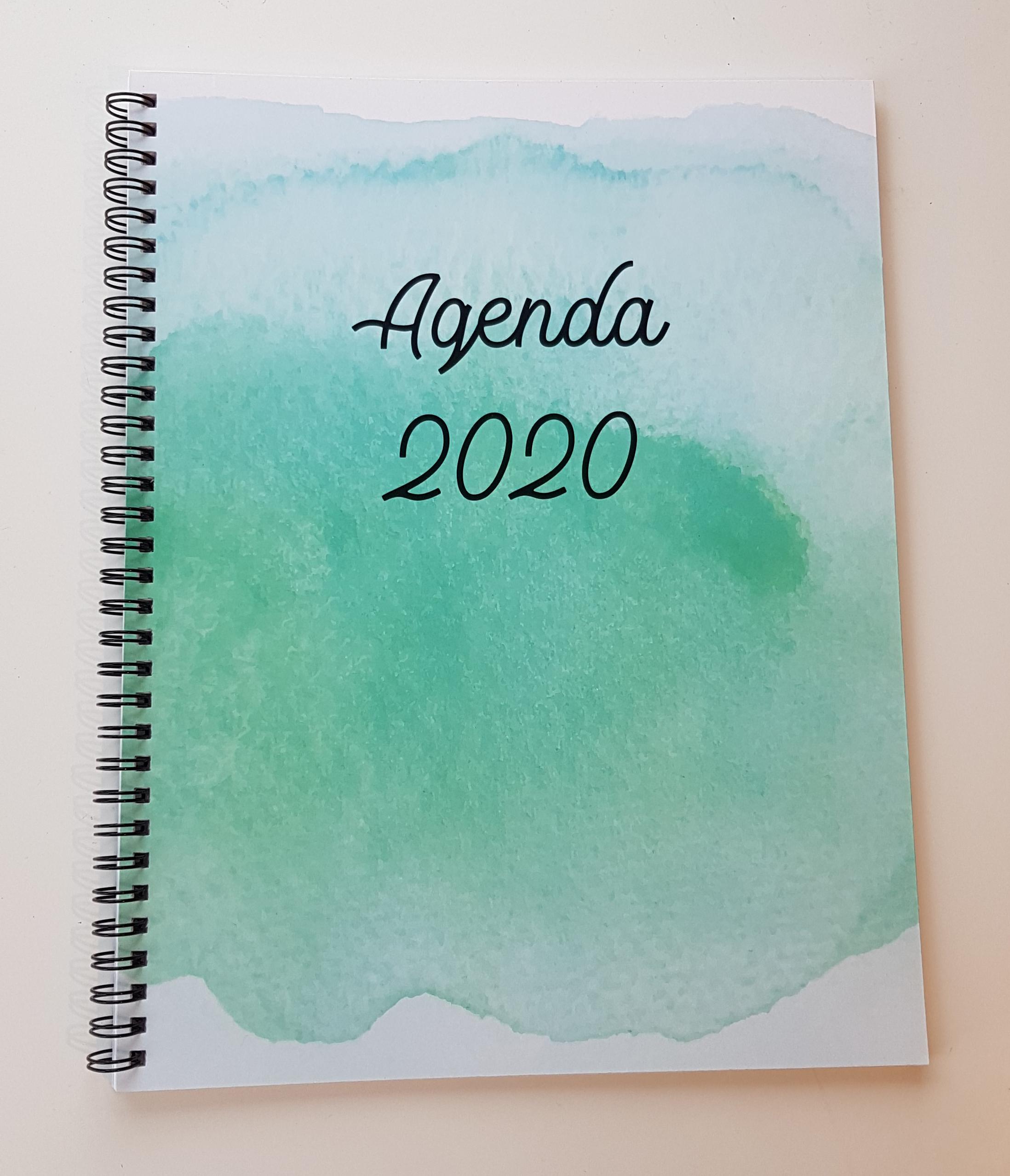 création montage et impression agenda 2020