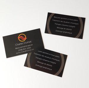 Création et impression de cartes d'affaires
